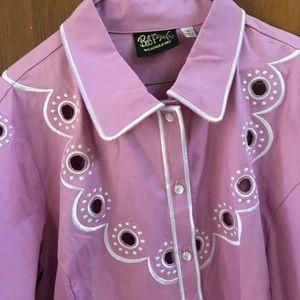 Lilac Bob Mackie shirt
